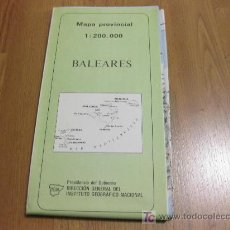 Mapas contemporáneos: MAPA PROVINCIAL - INSTITUTO GEOGRAFICO NACIONAL - 1986 BALEARES. Lote 25511193