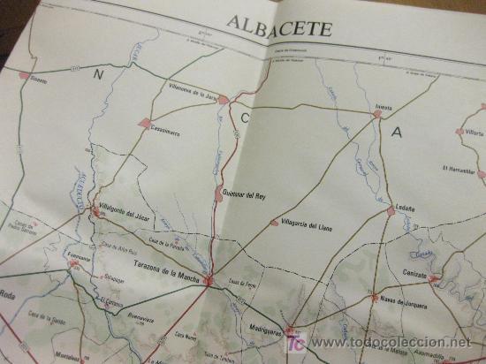MAPA OFICIAL DE ESPAÑA - CONJUNTOS PROVINCIALES - INSTITUTO GEOGRAFICO NACIONAL - 1978 ALBACETE (Coleccionismo - Mapas - Mapas actuales (desde siglo XIX))