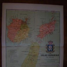 Mapas contemporáneos: 191? MAPA DE LAS ISLAS CANARIAS 2ª HOJA DE BENITO CHIAS CARBO. Lote 26483176