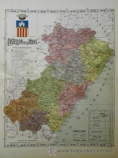 Mapa De La Provincia De Castellon De La Plana Buy Contemporary