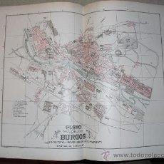 Mapas contemporáneos: 1900 PLANO DE LA CIUDAD DE BURGOS. Lote 20986606
