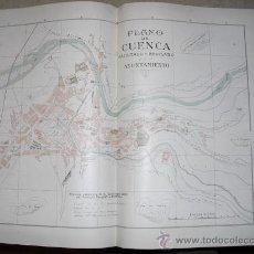 Mapas contemporáneos: 1900 PLANO DE LA CIUDAD DE CUENCA. Lote 23012493