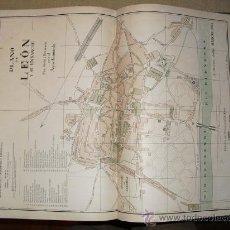 Mapas contemporáneos: 1900 PLANO DE LA CIUDAD DE LEON. Lote 25761298