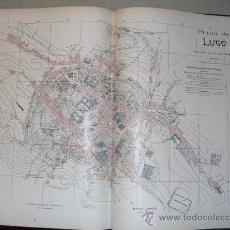 Mapas contemporáneos: 1900 PLANO DE LA CIUDAD DE LUGO. Lote 24040919