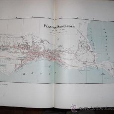 Mapas contemporáneos: 1900 PLANO DE LA CIUDAD DE SANTANDER. Lote 22738445