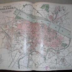 Mapas contemporáneos: 1900 PLANO DE LA CIUDAD DE ZARAGOZA. Lote 24172122