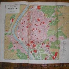 Mapas contemporáneos: 1900 PLANO DE LA CIUDAD DE SEVILLA 65 X 50 CMS. Lote 26118233