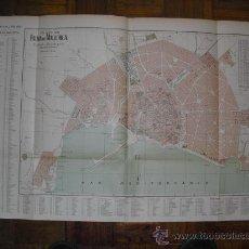 Mapas contemporáneos: 1900 PLANO DE LA CIUDAD DE PALMA DE MALLORCA 77X 50 CMS. Lote 27095614