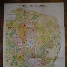 Mapas contemporáneos: 1900 PLANO DE LA CIUDAD DE MADRID 94 X 70 CMS. Lote 26629608