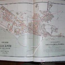 Mapas contemporáneos: 1900 PLANO DE LA CIUDAD DE ALICANTE. Lote 21880104