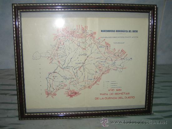 Mapa De Isohietas Cuenca Duero 1931 Estaciones Buy Contemporary