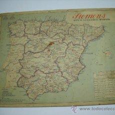 Mapas contemporáneos: MAPA DE FERROCARRILES DE ESPAÑA.PUBLICIDAD SIEMENS.CALENDARIO 1932 EN TRASERA . 44X33 EN CARTÓN. Lote 18839503