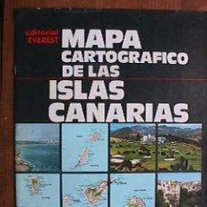 Mapas contemporáneos: MAPA CARTOGRAFICO DE LAS ISLAS CANARIAS, EVEREST, 1974. Lote 19096783