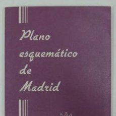 Cartes géographiques contemporaines: PLANO ESQUEMÁTICO DE MADRID. 1965. 54 X 58 CM.. Lote 19704360