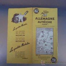 Cartes géographiques contemporaines: ANTIGUO MAPA DE CARRETERAS MICHELIN PNEU. ALEMANIA Y AUSTRIA. MADE IN FRANCE. Lote 19818762