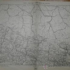 Mapas contemporáneos: 1936 MAPA MILITAR ITINERARIO HOJA 17 SALVATIERRA JACA TARBES PLAN. Lote 27423915