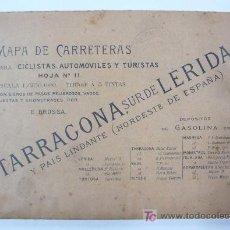 Mapas contemporáneos: MAPA DE CARRETERAS PARA CICLISTAS, AUTOMÓVILES Y TURISTAS. TARRAGONA Y SUR DE LÉRIDA.. Lote 20304334