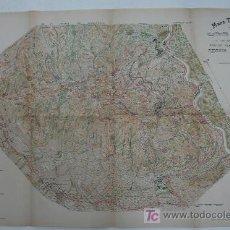 Mapas contemporáneos: MAPA TOPOGRÁFICH DE LA MONTANYA DE MONTSERRAT Y DE SES VESSANTS. 42 X 71 CM.. Lote 20364670
