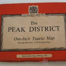 Mapas contemporáneos: MAPA DEL SERVICIO ESTATAL DE CARTOGRAFIA BRITANICO (ORDNANCE SURVEY) - THE PEAK DISTRICT, 1960. Lote 20710000