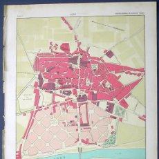 Mapas contemporáneos: PLANO Y FOTOS DE LA CIUDAD DE LEÓN, MAPAS DE LA PROVINCIA. ENCICLOPEDIA. ILUSTR. SEGUÍ, 1905/10.. Lote 21294124