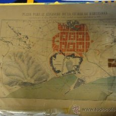 Mapas contemporáneos: PLANO DE BARCELONA DE 1858. Lote 21562552