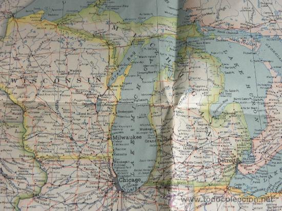 Mapa Estados Unidos América Usa Unites States Comprar Mapas - Mapas usa