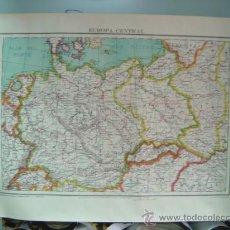 Mapas contemporáneos: ANTIGUO MAPA DE EUROPA CENTRAL - POR ANTONIO SANTAMANS. Lote 21921404