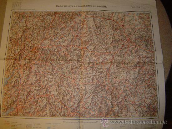 HOJA 12 DEL MAPA MILITAR ITINERARIO DE ESPAÑA GALICIA E 1:200000 (Coleccionismo - Mapas - Mapas actuales (desde siglo XIX))