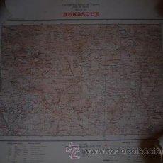 Mapas contemporáneos: MAPA DE BENASQUE CARTOGRAFIA MILITAR DE ESPAÑA E 1/100000. Lote 24831102