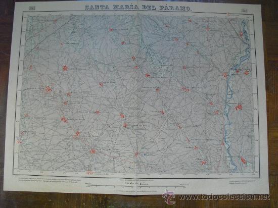 1925 mapa de santa maria del paramo hoja 194 - Comprar Mapas ...