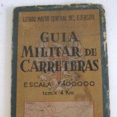 Mapas contemporâneos: MAPA MILITAR: GUIA MILITAR DE CARRETERAS -ESTADO MAYOR CENTRAL DEL EJERCITO- HOJA Nº14 - 1957. Lote 22516996
