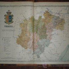 Mapas contemporáneos: MAPA DE LA PROVINCIA DE TERUEL - PRINCIPIOS SIGLO XX - CHIAS. Lote 22573870