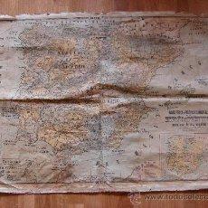 Mapas contemporáneos: MAPA ANTIGUO DE ESCUELA. FISICO Y POLITICO. ESPAÑA Y PORTUGAL. HERNANDO. MADRID. Lote 26904048
