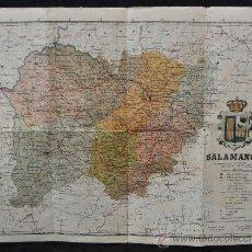 Mapas contemporáneos: ANTIGUO MAPA DE LA PROVINCIA DE SALAMANCA. ENTELADO. . Lote 24875412