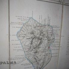 Mappe contemporanee: MAPA DE CANARIAS, COELLO Y MADOZ, 1 HOJA, GRABADO AL ACERO HACIA 1850.. Lote 23000001