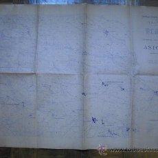 Mapas contemporáneos: 193? PLANO DEL CAMPO DE TIRO Y MANIOBRAS DE ASTORGA. Lote 27344321