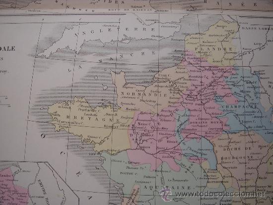 Mapas contemporáneos: MAPA DE EUROPA Y FRANCIA EN LA ÉPOCA FEUDAL, ORIGINAL, DRIOUX , 1887, PERFECTO. - Foto 12 - 27415687