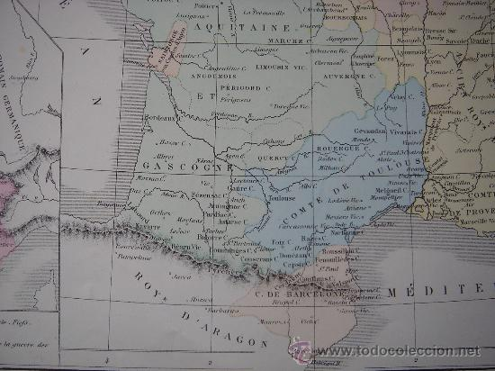 Mapas contemporáneos: MAPA DE EUROPA Y FRANCIA EN LA ÉPOCA FEUDAL, ORIGINAL, DRIOUX , 1887, PERFECTO. - Foto 14 - 27415687