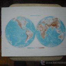 Mapas contemporáneos: MAPA - MAPAMUNDI FISICO. Lote 23278017