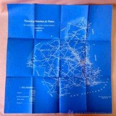 Mapas contemporáneos: MAPA ,CARRETERAS PROVINCIA DE MURCIA, AÑO 1928, CON INDICACIONES DE CAMINOS Y CARRETERAS VECINALES, . Lote 24295590