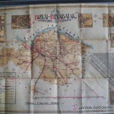 Mapas contemporáneos: MAPA DE CARRETERAS DE BIZKAYA .. BIZKAI BITXABALAK 1918. Lote 23471886