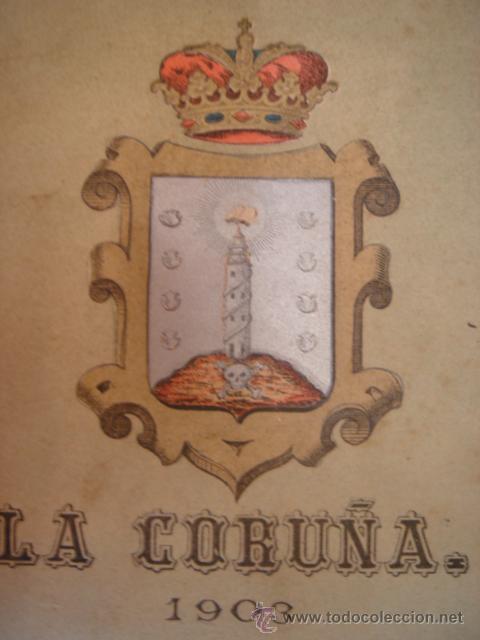 MAPA COROGRÁFICO DE LA CORUÑA, GALICIA,ORIGINAL1903,BENITO CHÍAS,GRAN TAMAÑO. (Coleccionismo - Mapas - Mapas actuales (desde siglo XIX))
