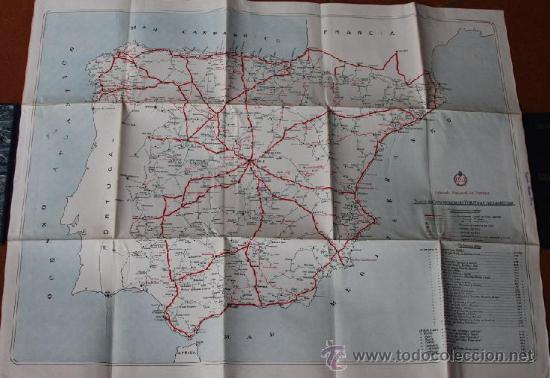 Mapas contemporáneos: PLANO DE COMUNICACIONES TURISTAS POR CARRETERA - MAPA DE ESPAÑA ENTELADO - 1930 - PATRONATO TURISMO - Foto 2 - 24588319