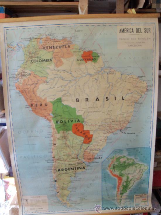 antiguo mapa seix i barral de america del sur e - Kaufen ...
