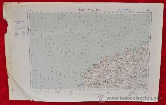 ANTIGUO MAPA DE SAN MIGUEL DE LAS BALEARES. EDICION MILITAR. TAMAÑO GRANDE. (Coleccionismo - Mapas - Mapas actuales (desde siglo XIX))