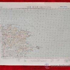 Mapas contemporáneos: ANTIGUO MAPA DE SAN JUAN BAUTISTA DE LAS BALEARES. EDICION MILITAR. TAMAÑO GRANDE.. Lote 25927529