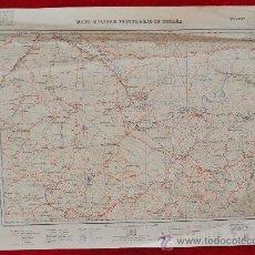 Mapas contemporáneos: ANTIGUO MAPA MILITAR ITINERARIO DE ESPAÑA. EDICION MILITAR. TAMAÑO GRANDE.. Lote 25927829