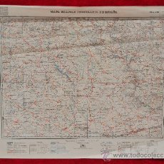 Mapas contemporáneos: ANTIGUO MAPA MILITAR ITINERARIO DE ESPAÑA. EDICION MILITAR. TAMAÑO GRANDE.. Lote 25927895