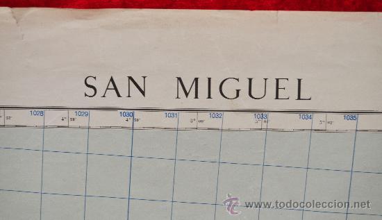 Mapas contemporáneos: Antiguo mapa de San Miguel de las baleares. Edicion militar. Tamaño grande. - Foto 2 - 287822058
