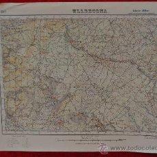 Cartes géographiques contemporaines: ANTIGUO MAPA DE ULLDECONA. EDICION MILITAR. TAMAÑO GRANDE.. Lote 25922652
